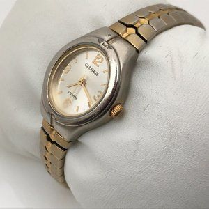 Carriage by Timex Ladies Watch Silver Gold Tone
